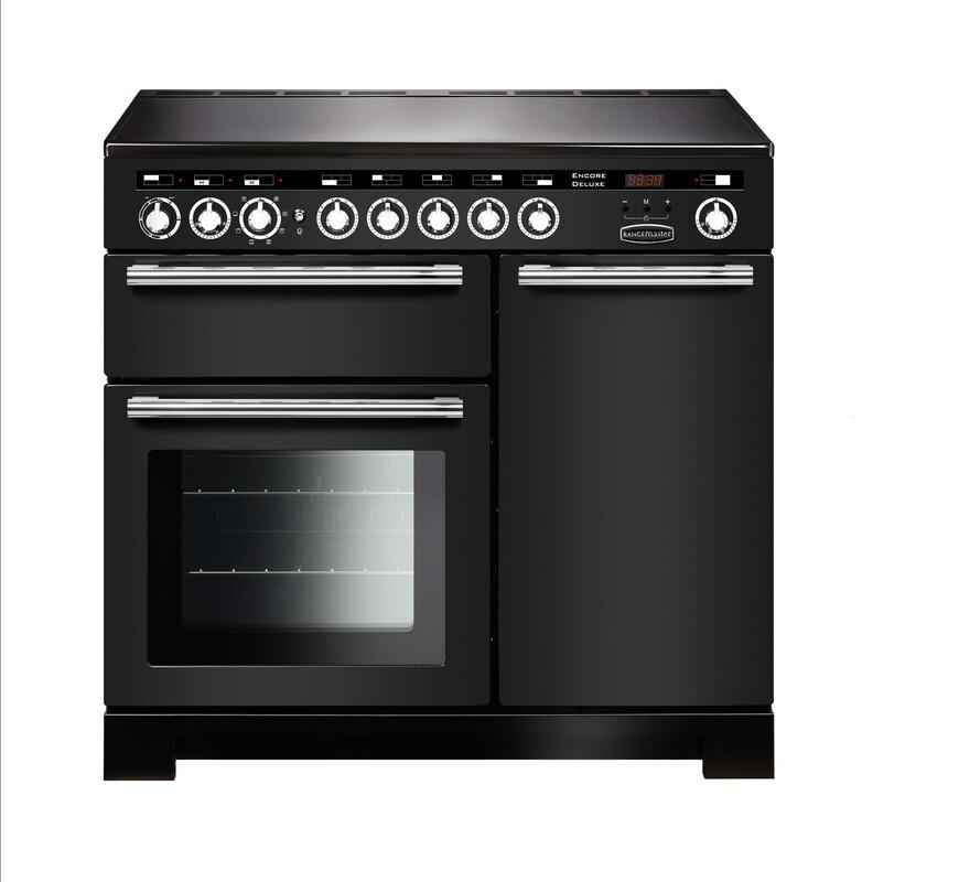 Rangemaster Encore Deluxe 100 Induction Charcoal Black Range Cooker EDL100EICB/C 127710
