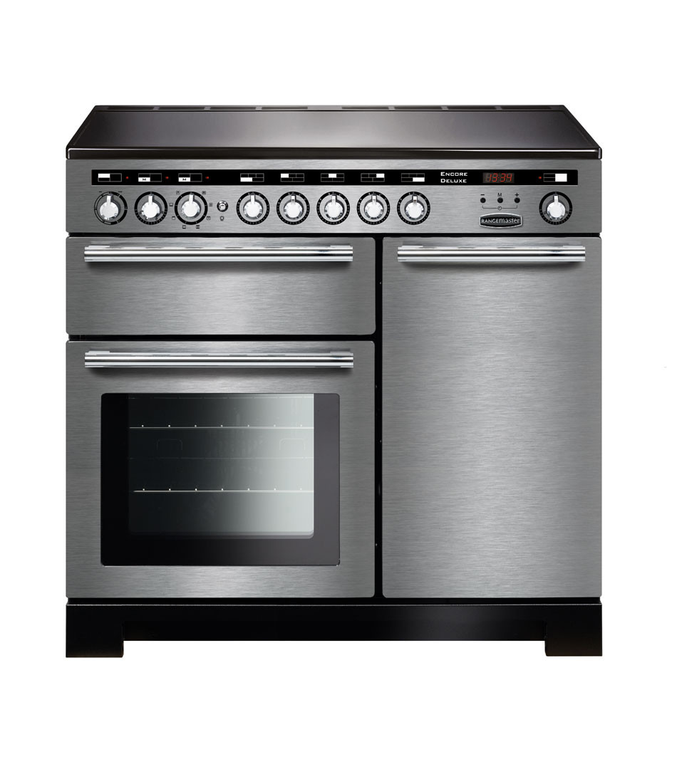 Rangemaster Encore Deluxe 100 Induction Stainless Steel Range Cooker EDL100EISS/C 117370