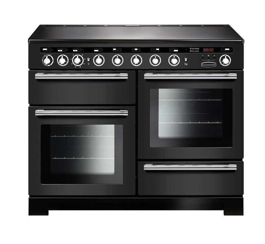 Rangemaster Encore Deluxe 110 Induction Charcoal Black Range Cooker EDL110EICB/C 127680
