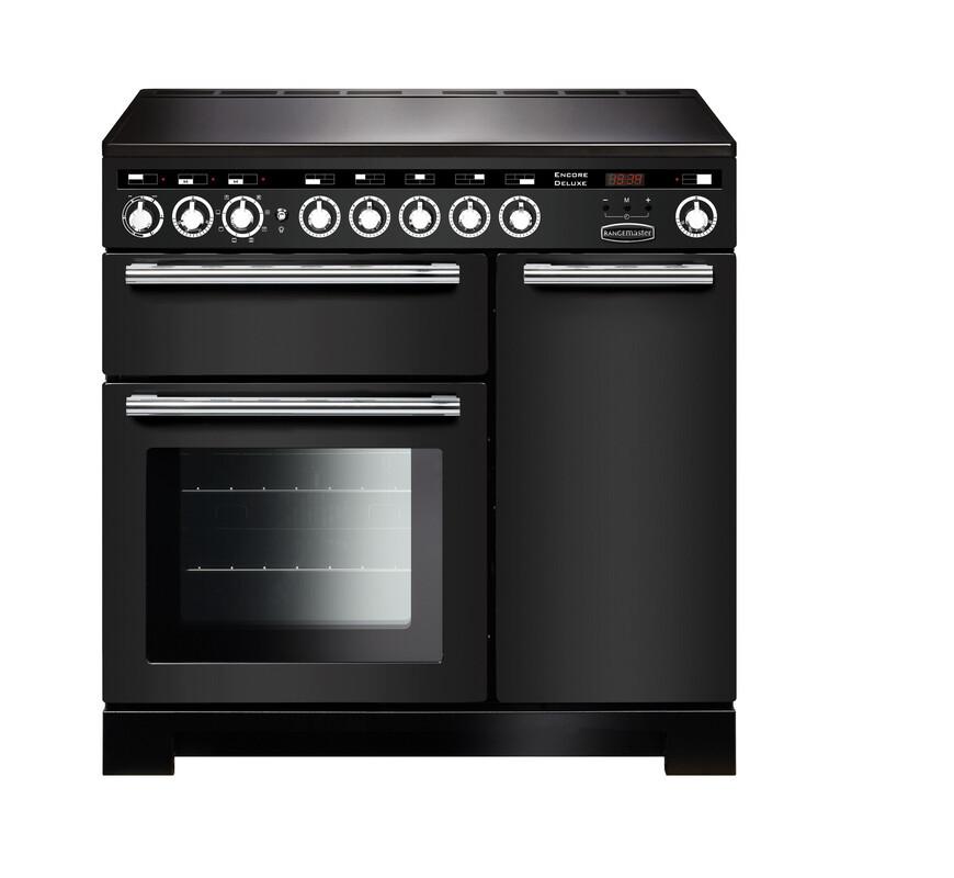 Rangemaster Encore Deluxe 90 Induction Charcoal Black Range Cooker EDL90EICB/C 126640
