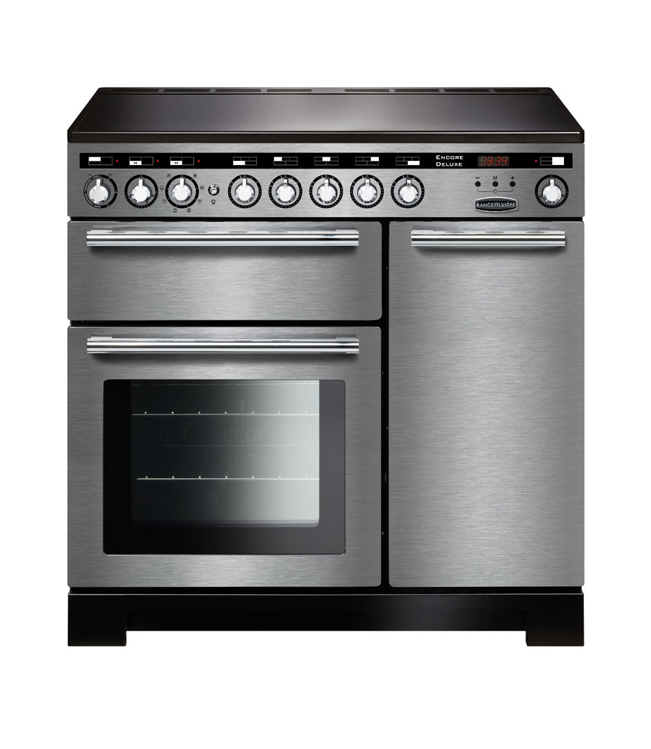 Rangemaster Encore Deluxe 90 Induction Stainless Steel Range Cooker EDL90EISS/C 117330