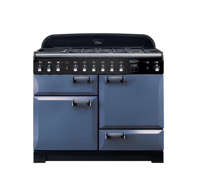 Rangemaster Elan Deluxe 110 Dual Fuel Stone Blue Range Cooker ELA110DFFSB/ 125710