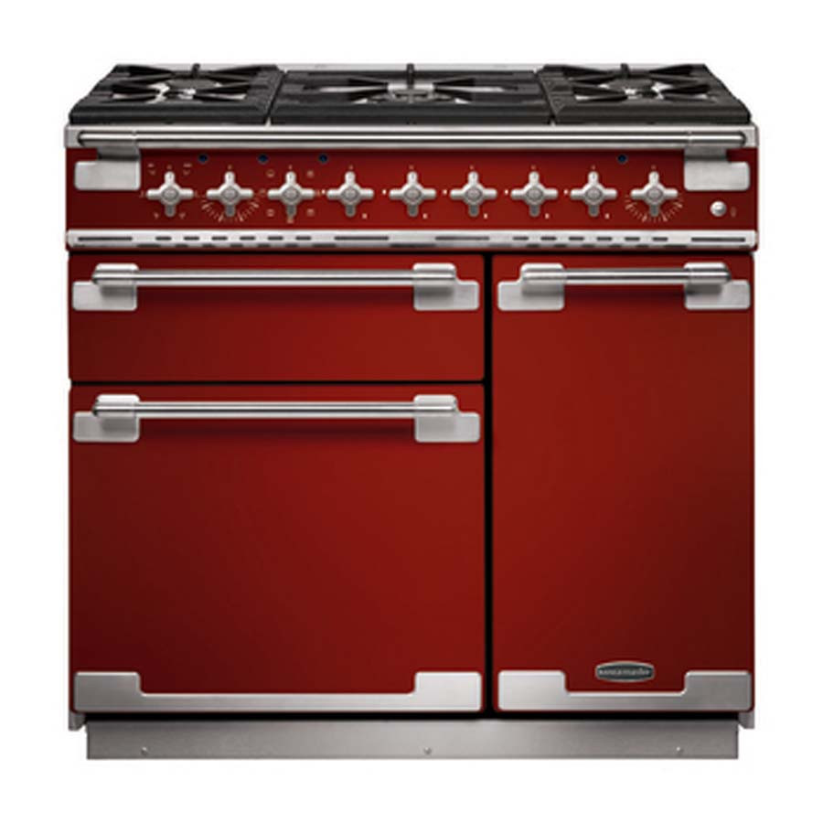 Rangemaster Elise 90 Dual Fuel Cherry Red Range Cooker 10842