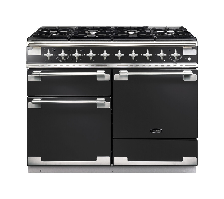 Rangemaster Elise 110 Dual Fuel Charcoal Black Range Cooker ELS110DFFCB/ 126880