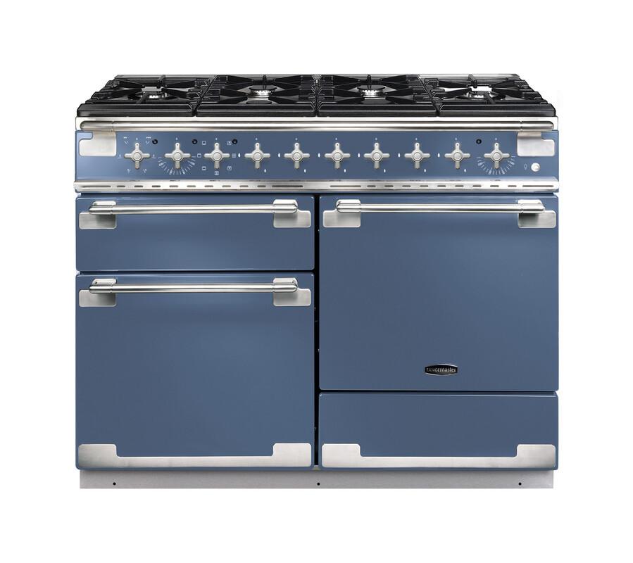 Rangemaster Elise 110 Dual Fuel Stone Blue Range Cooker ELS110DFFSB/ 126900