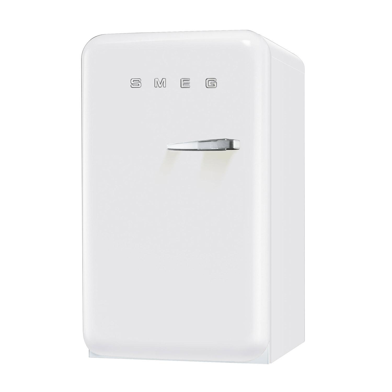 Smeg FAB10LB 50's Retro Style White Fridge with Ice Box