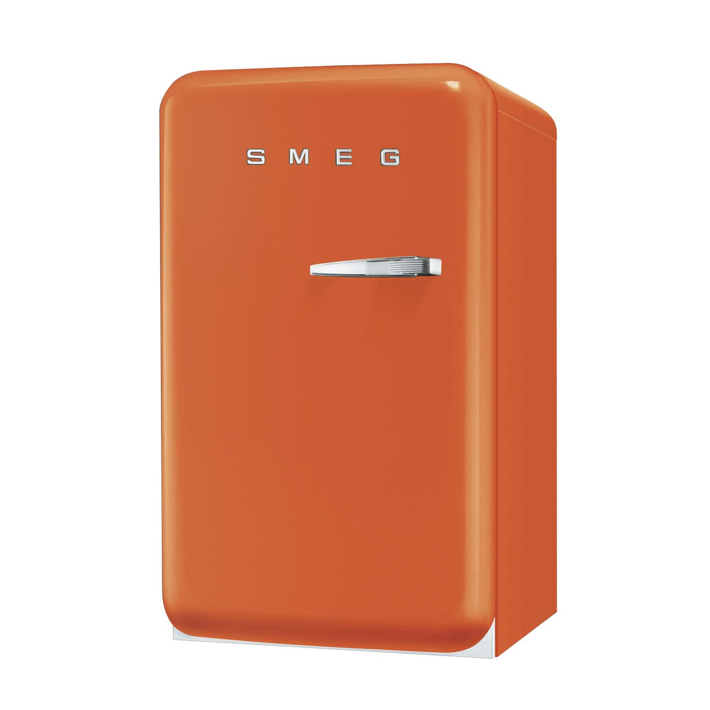Smeg FAB10LO 50's Retro Style Orange Fridge with Ice Box