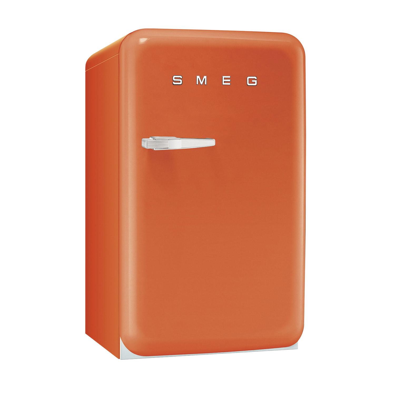 Smeg FAB10RO 50's Retro Style Orange Fridge with Ice Box