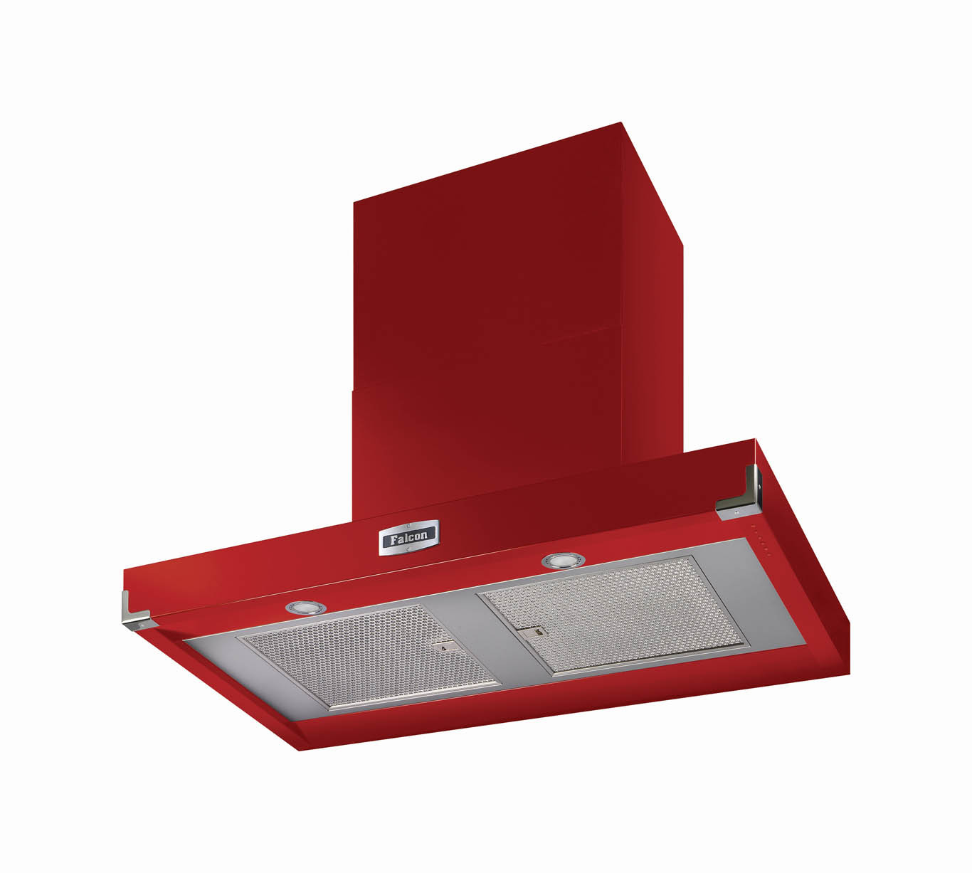 Falcon 1090 Contemporary Cooker Hood Cherry Red Nickel