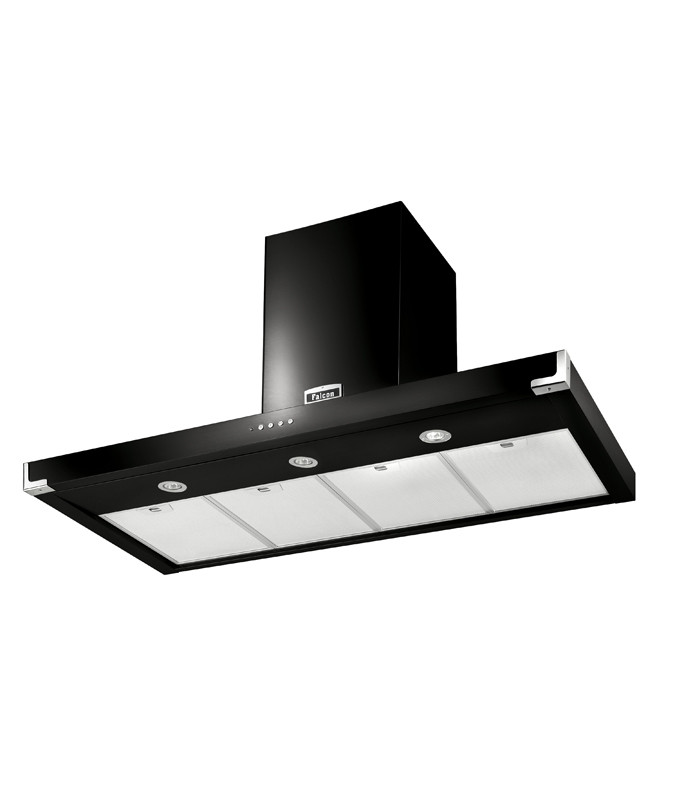 Falcon 110cm Super Flat Hood Black Chrome 92930 FHDSF1100BL/C