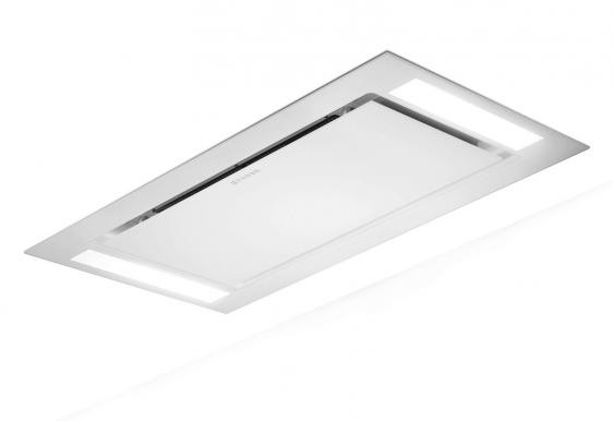 Faber Heaven Glass 90cm White Glass Ceiling Hood