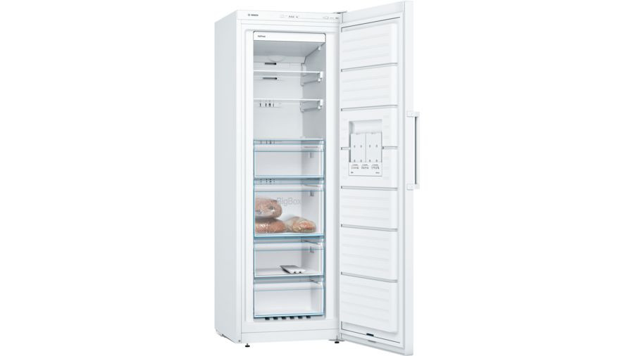 Bosch Serie 4 GSN33VW3PG No Frost Freestanding White Upright Freezer