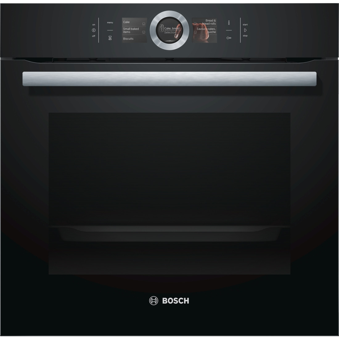 buy the bosch serie 8 hbg656rb6b black built in oven. Black Bedroom Furniture Sets. Home Design Ideas