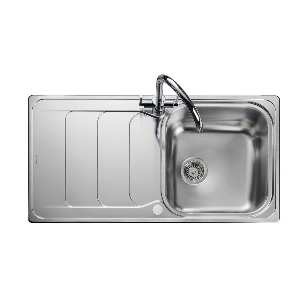 Rangemaster Houston HS9851/ Single Bowl Stainless Steel Sink