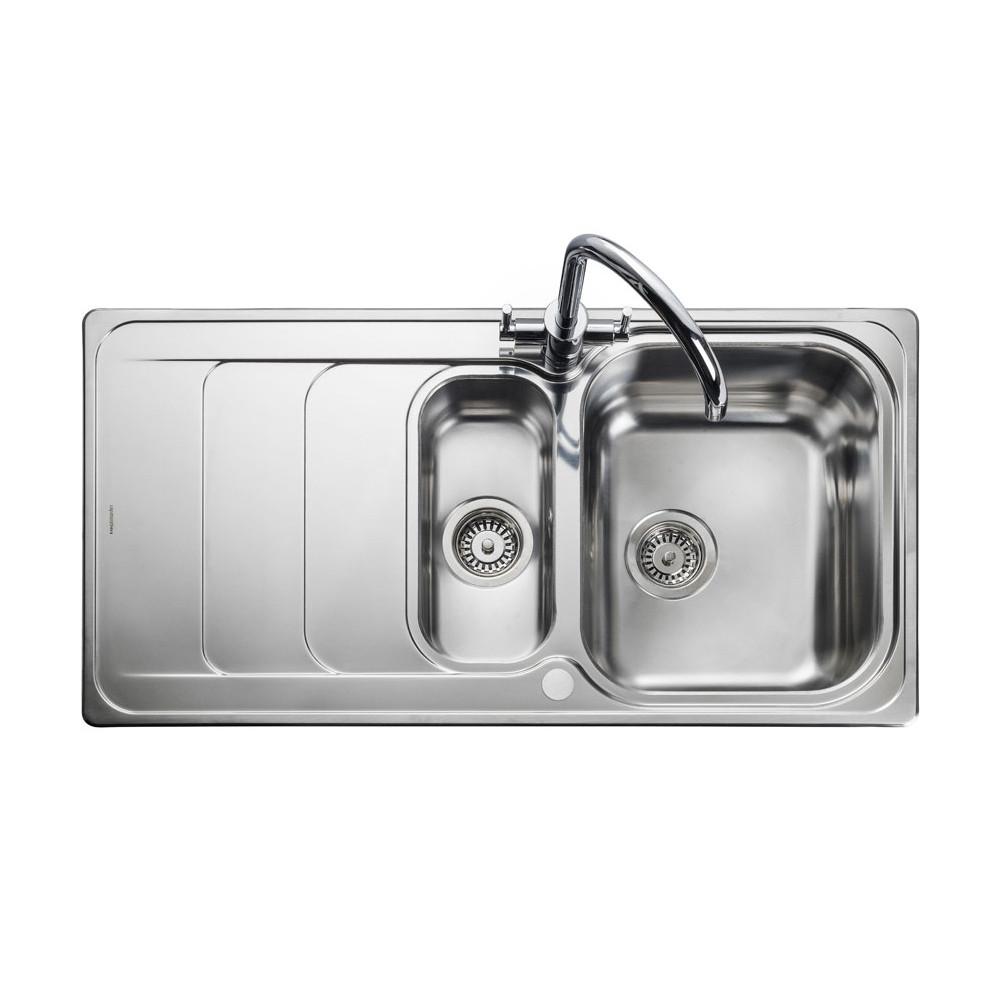 Rangemaster Houston HS9852/ 1.5 Bowl Stainless Steel Sink