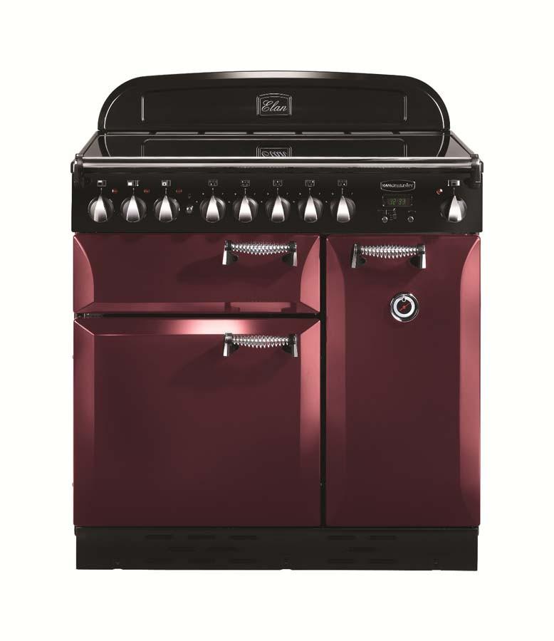 Rangemaster Elan 90 Ceramic Cranberry Range Cooker 101170