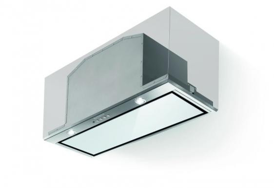 Faber Inca Lux White Glass 52cm Stainless Steel Integrated Hood