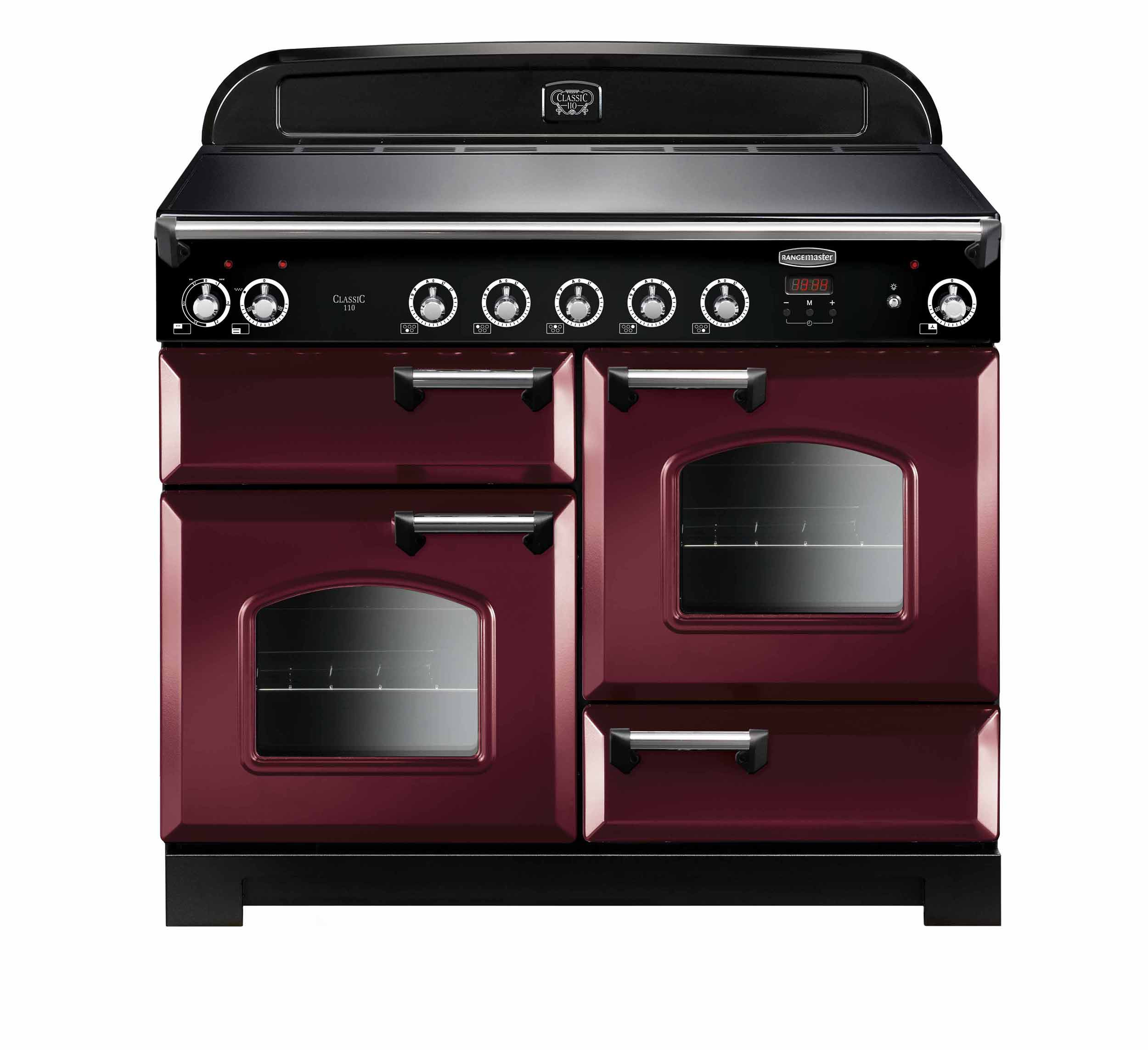 Rangemaster Classic 110 Induction Cranberry Range Cooker CLA110EICY/C 117050