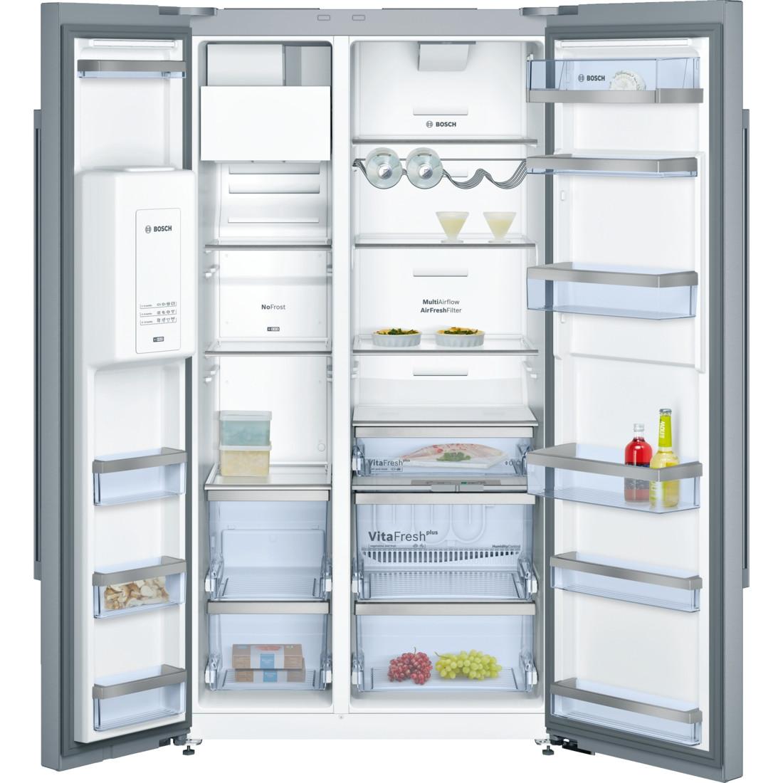Buy the Bosch Serie 6 American-Style Stainless Steel Fridge Freezer