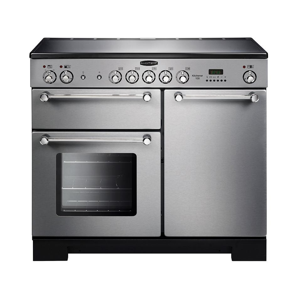 Rangemaster Kitchener 100 Ceramic Stainless Steel Range Cooker KCH100ECSS/C 112830