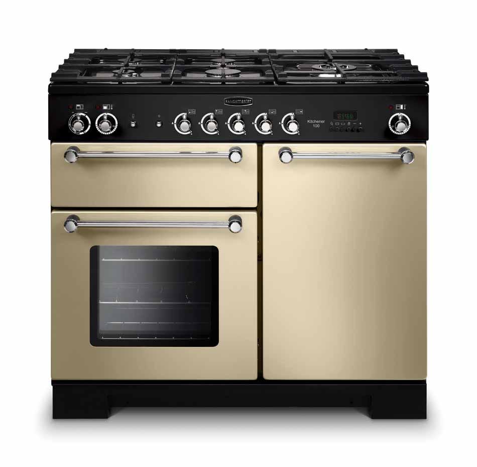 Rangemaster Kitchener 100 Gas Cream Range Cooker KCH100NGFCR/C 111960