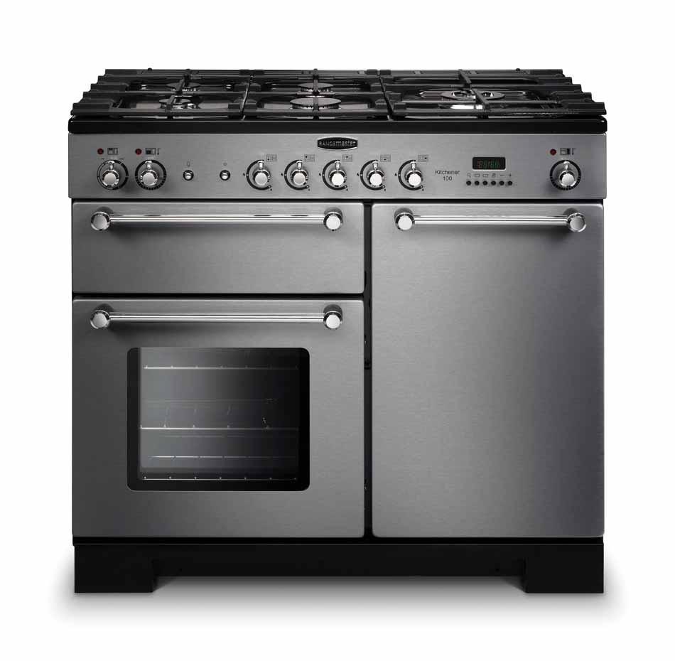 Rangemaster Kitchener 100 Gas Stainless Steel Range Cooker KCH100NGFSS/C 111930
