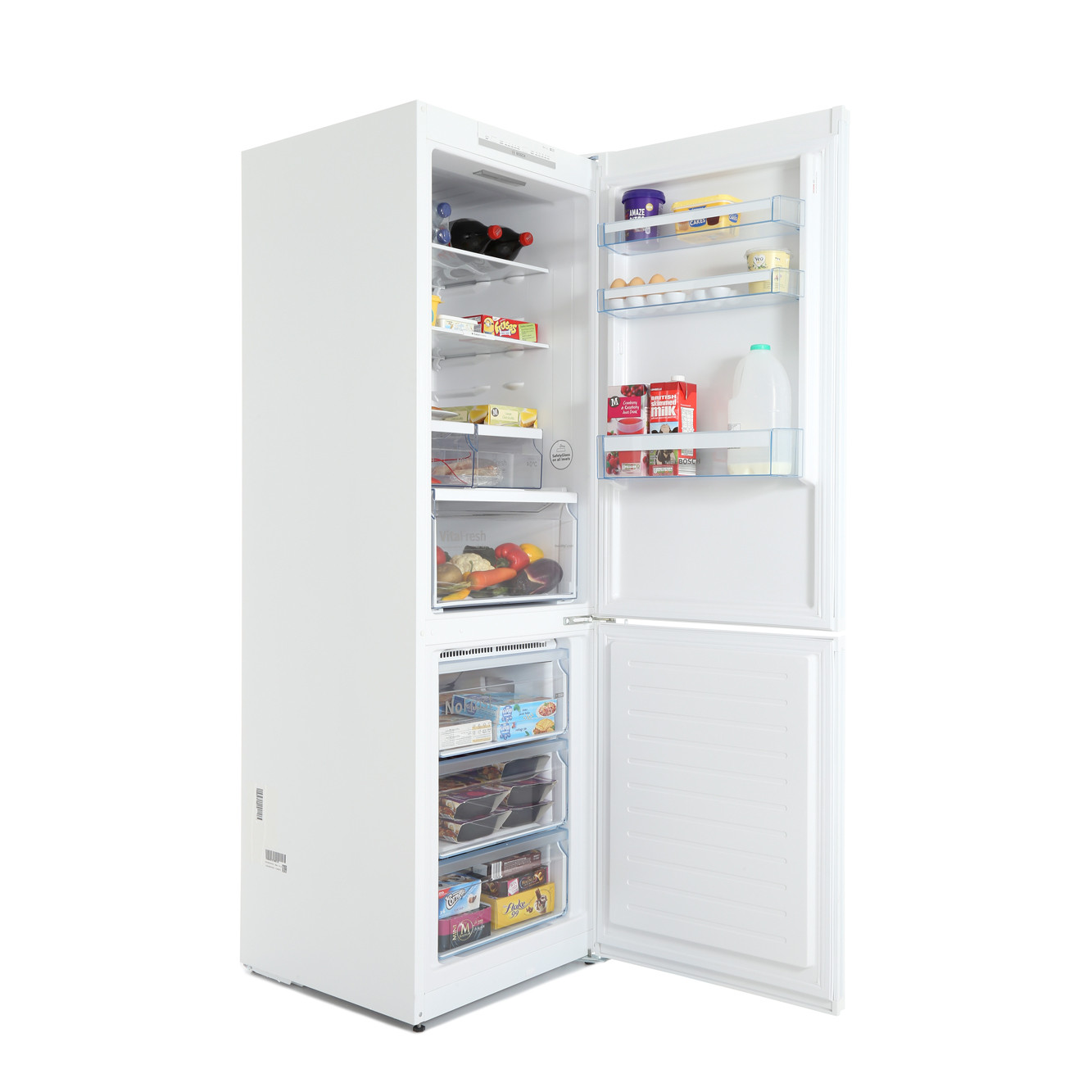 Bosch Serie 4 KGN36VWEAG 324 Litre A++ Rated White Fridge Freezer