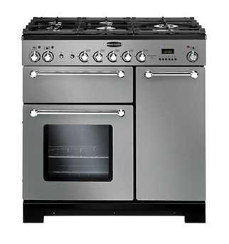 Rangemaster Kitchener 90 Natural Gas Stainless Steel Range Cooker KCH90NGFSS/C 116770