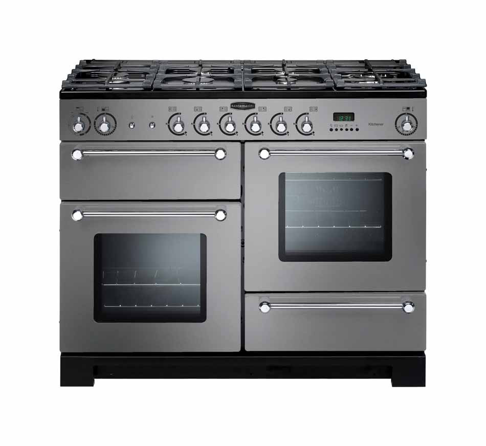 Rangemaster Kitchener 110 Natural Gas Stainless Steel Range Cooker KCH110NGFSS/C 116710