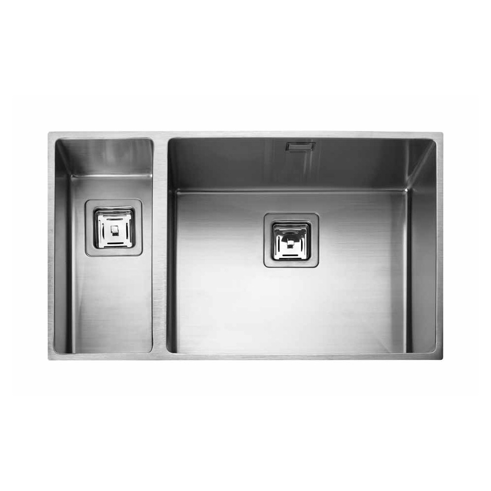 Rangemaster Kube KUB5018L/ 1.5 Bowl Undermount Sink Left