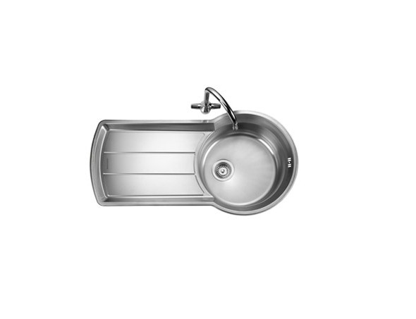 Rangemaster Keyhole KY10001/ Single Bowl Stainless Steel Sink