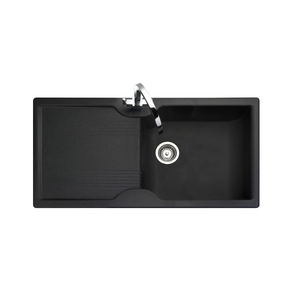 Rangemaster Lunar LU9851GB Black Granite Sink