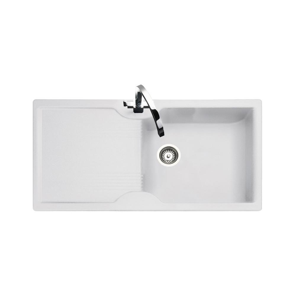 Rangemaster Lunar LU9851GW White Granite Sink