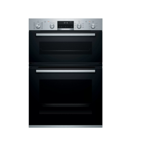 Bosch Serie 6 Built In Brushed Steel Double Oven MBA5785S6B