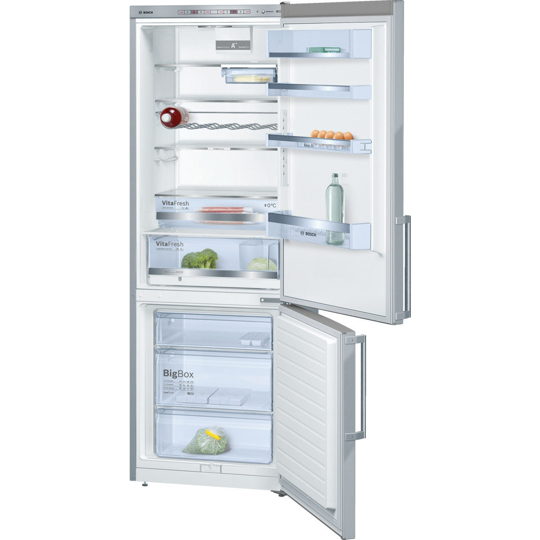 Bosch Serie 6 KGE49BI30G Freestanding Stainless Steel Fridge Freezer