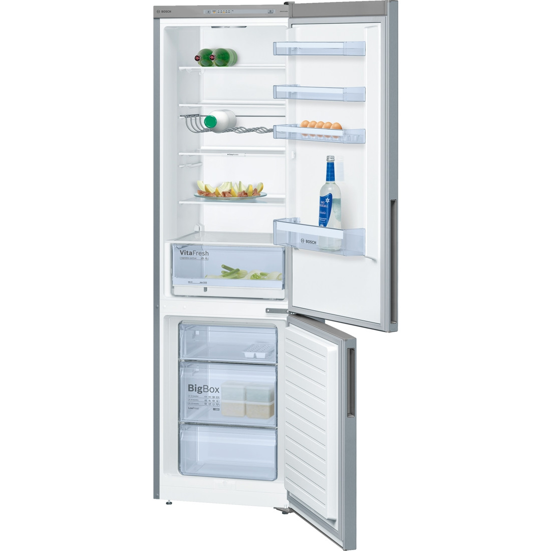 Bosch Serie 4 KGV39VLEAG Freestanding Stainless Steel Fridge Freezer