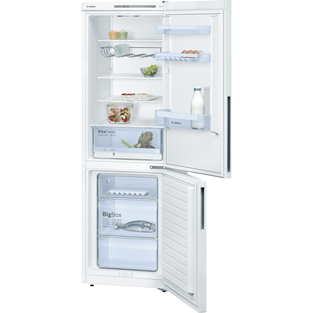 Bosch Serie 4 KGV36VW32G Freestanding White Fridge Freezer