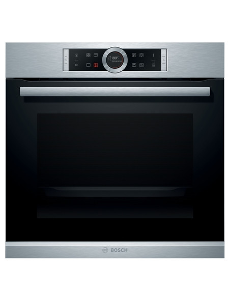 Bosch HBG674BS1B Built-in Brushed Steel Pyrolytic Single Oven