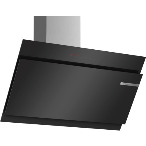 Bosch Serie 6 DWK97JQ60B 90 Angled Glass Black Chimney Hood