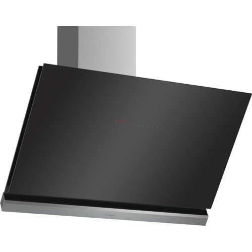 Bosch Serie 8 DWK98PR60B 90 Angled Glass Black Chimney Hood