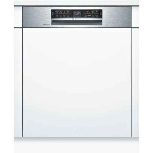 Bosch Serie 6 60cm Brushed Steel Home Connect Semi Integrated Dishwasher SMI68MS06G