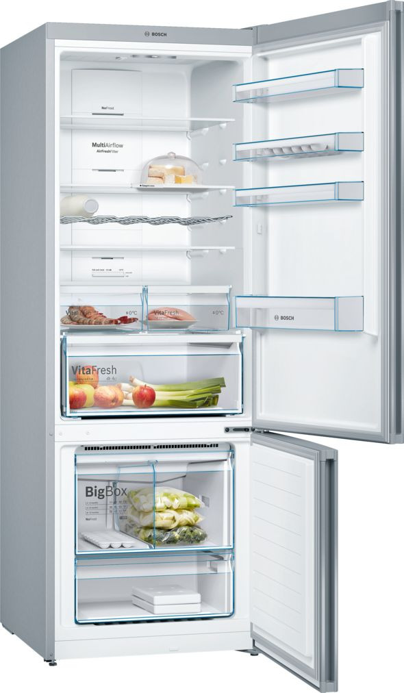 Bosch Serie 4 Freestanding Stainless Steel Fridge Freezer KGN56XL30