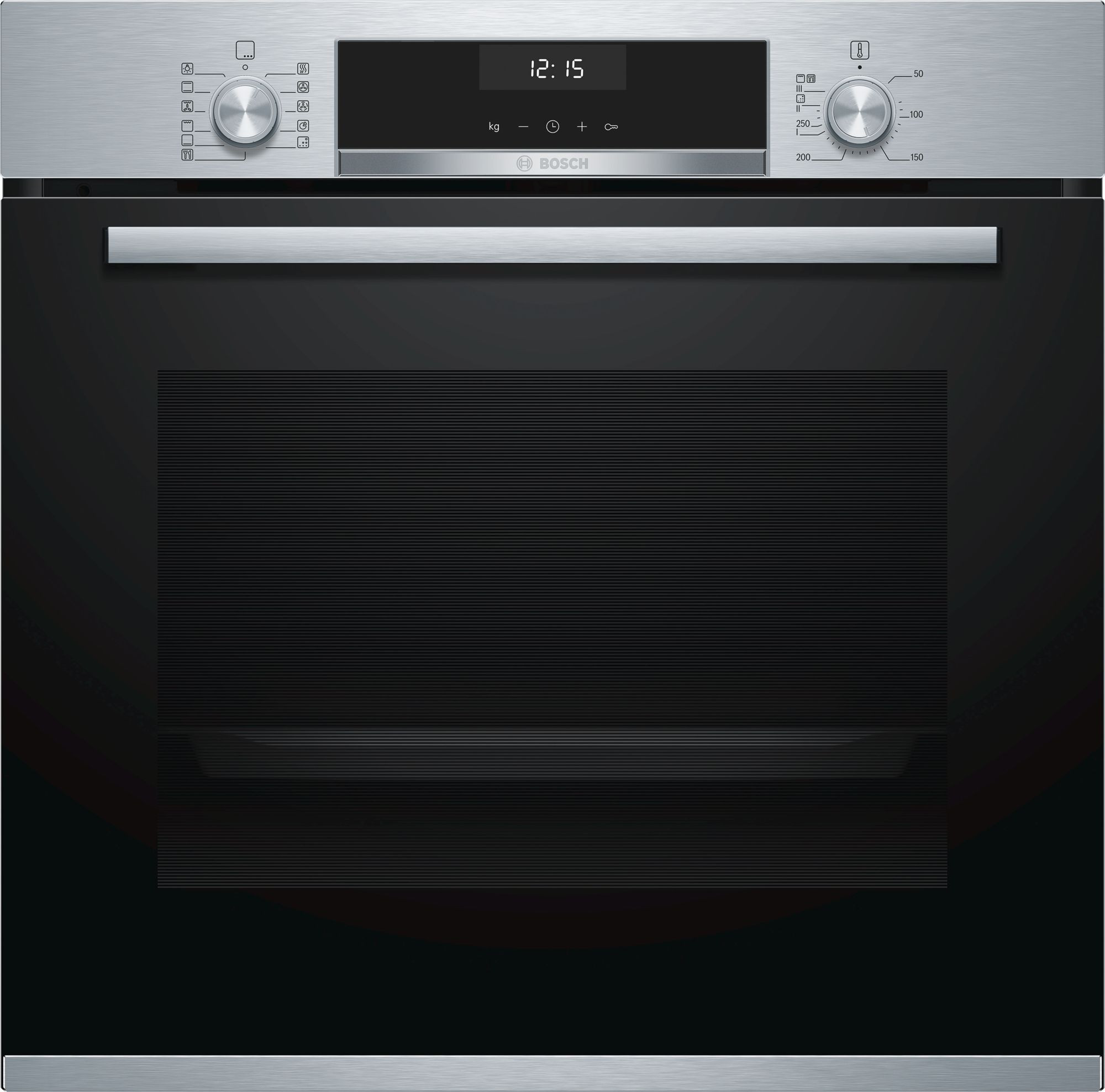 Bosch Serie 6 Brushed Steel Single Oven HBA5570S0B