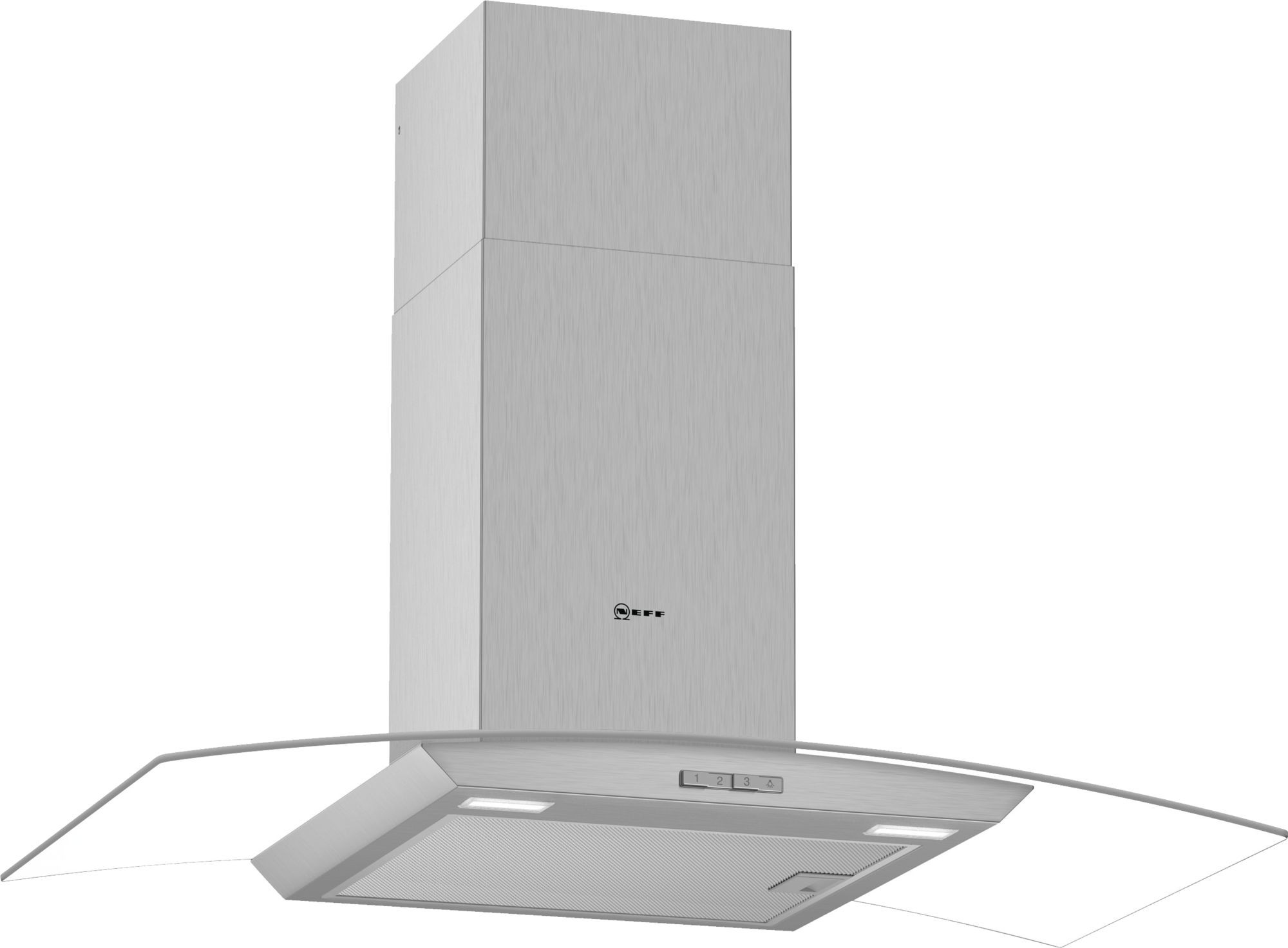 Neff N30 90cm Stainless Steel Glass Chimney Hood D94ABC0N0B