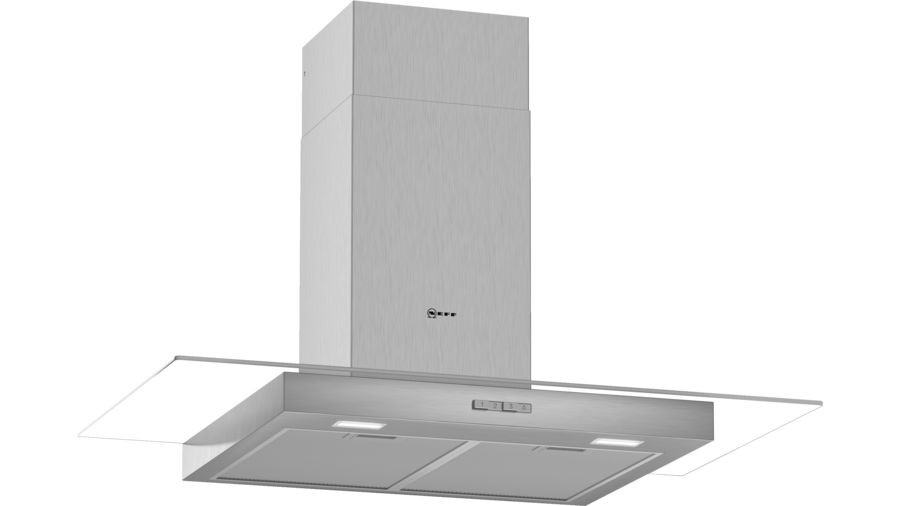 Neff N30 90cm Stainless Steel Glass Chimney Hood D94GBC0N0B