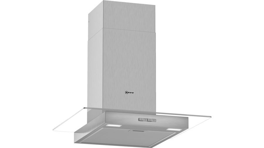 Neff N30 60cm Stainless Steel Glass Chimney Hood D64GBC0N0B