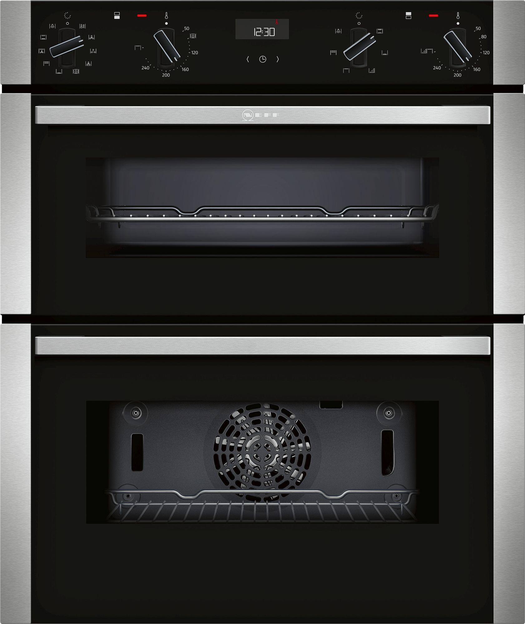 Neff N50 Black Built-Under Double Oven J1ACE4HN0B