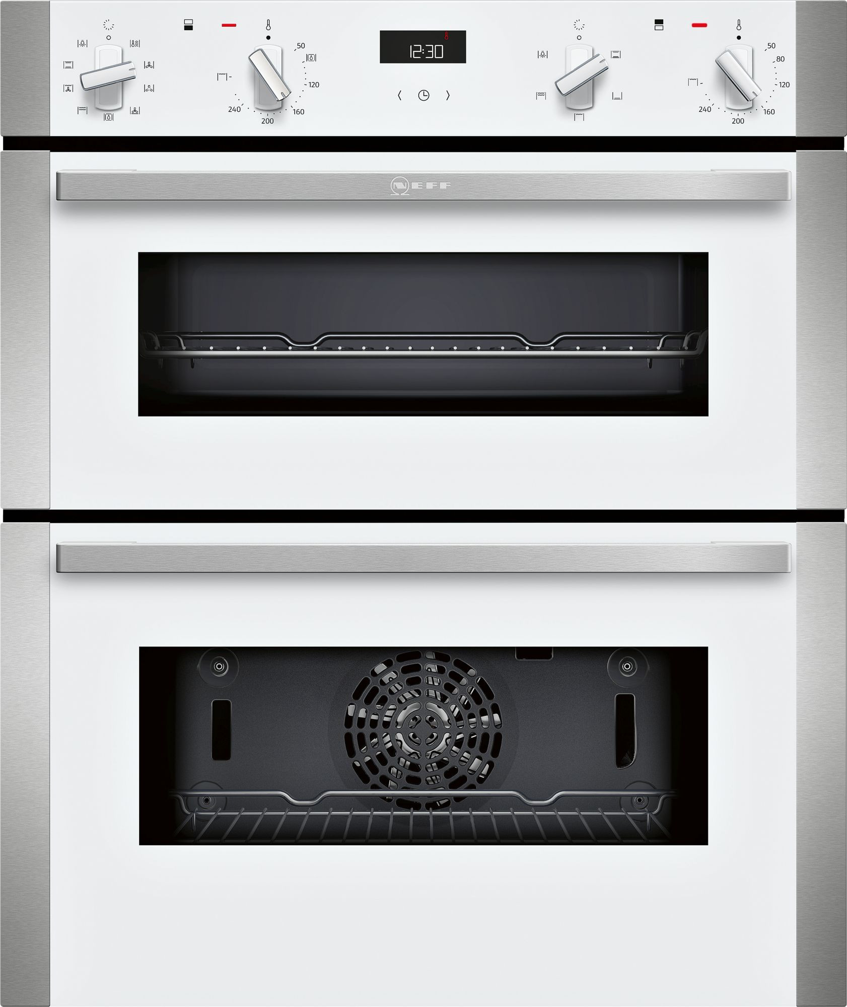 Neff N50 White Built-Under Double Oven J1ACE2HW0B