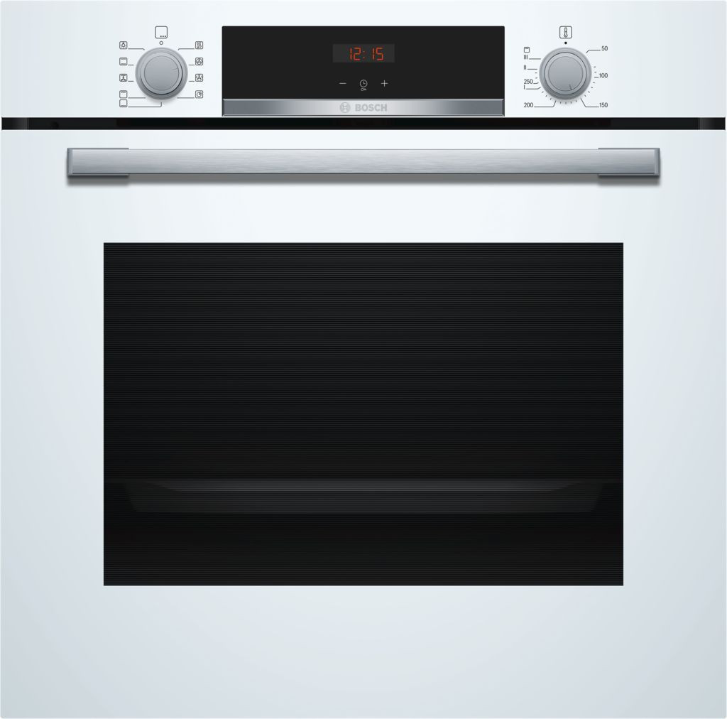 Bosch Serie 4 Brushed Steel Single Oven HBS534BW0B