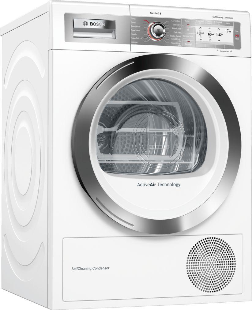 Bosch Serie 8 WTYH6791GB Freestanding White Condenser 9kg A++ Tumble Dryer